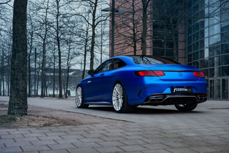 2017 FOSTLA MERCEDES AMG S63 4MATIC cars blue modified wallpaper