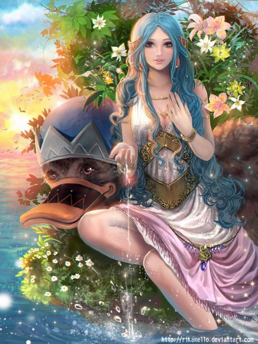 original one piece girl blue hair water dress beautiful character wallpaper