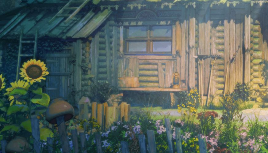 anime scan flower house original wallpaper