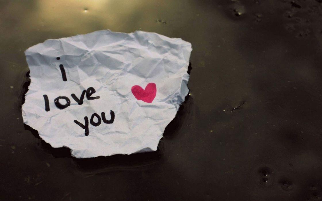 love paper text wallpaper