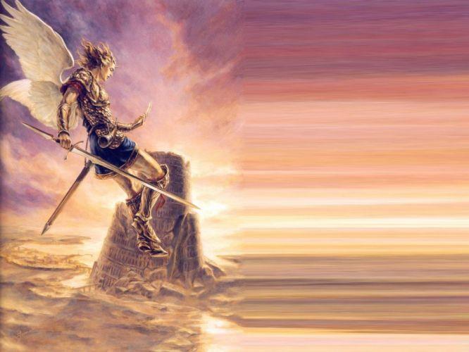 angels swords antasy angel warrior wallpaper