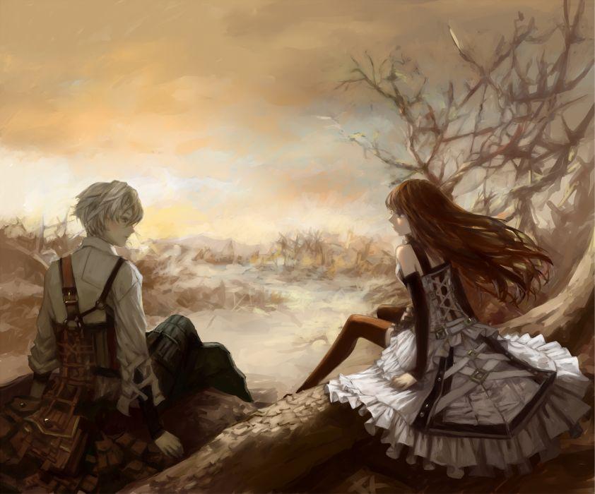 shadow+of+laffandor original anime girl couple beautiful wallpaper