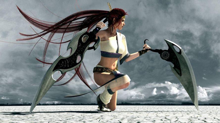 WOMEN WARRIOS game-heavenly-women-girls-weapons-swords wallpaper