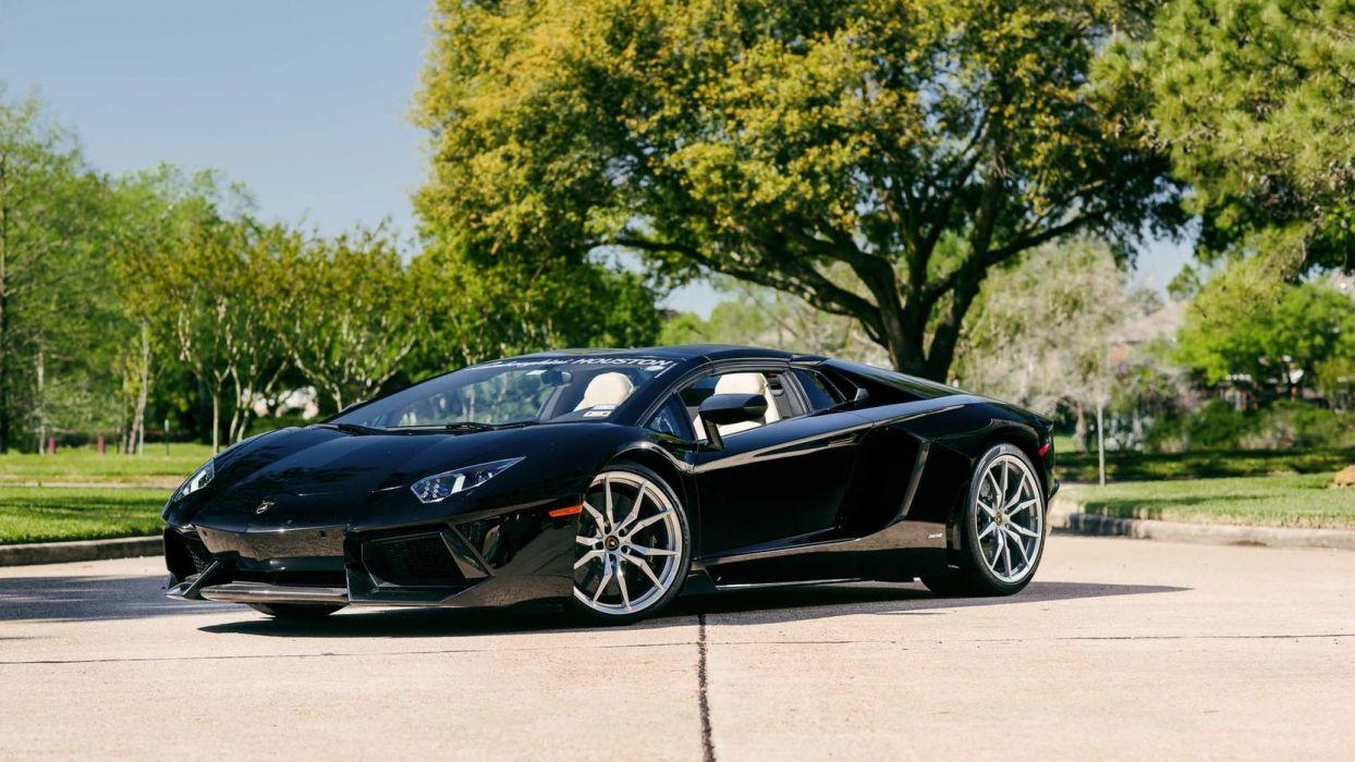 2015 Lamborghini Aventador Cars Supercars Spider Black
