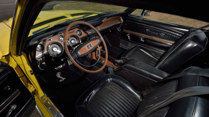 1968 SHELBY mustang GT500KR FASTBACK cars Yellow wallpaper