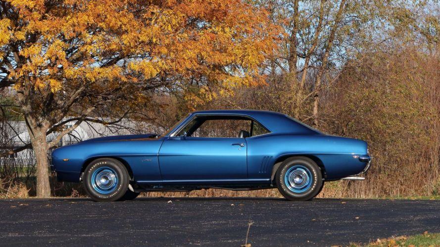 1969 CHEVROLET CAMARO ZL1 427 cars blue wallpaper