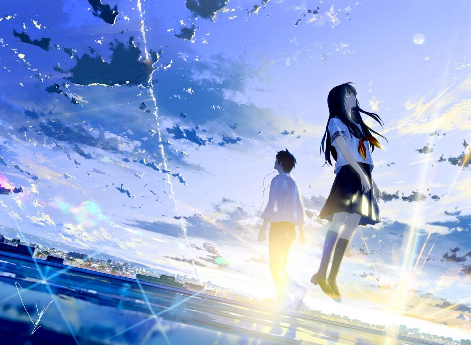 cry sky original anime girl beauty beautiful wallpaper