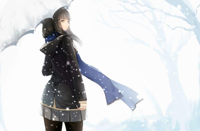 snow original anime girl beauty beautiful wallpaper