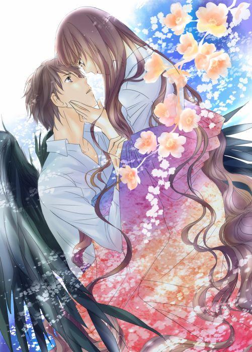 dg+red+data+girl original anime girl beautiful long hair beauty couple guy wallpaper