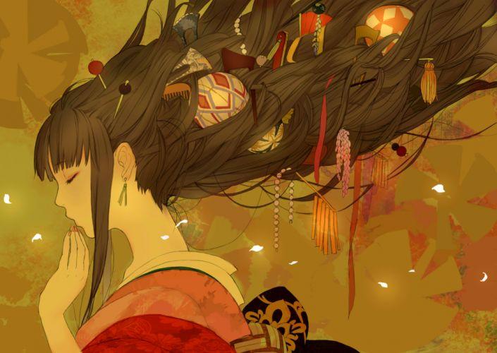 original anime girl beautiful long hair romiy beauty wallpaper