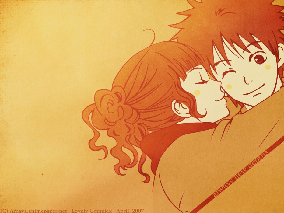 original anime lovely complex character love series couple wallpaper