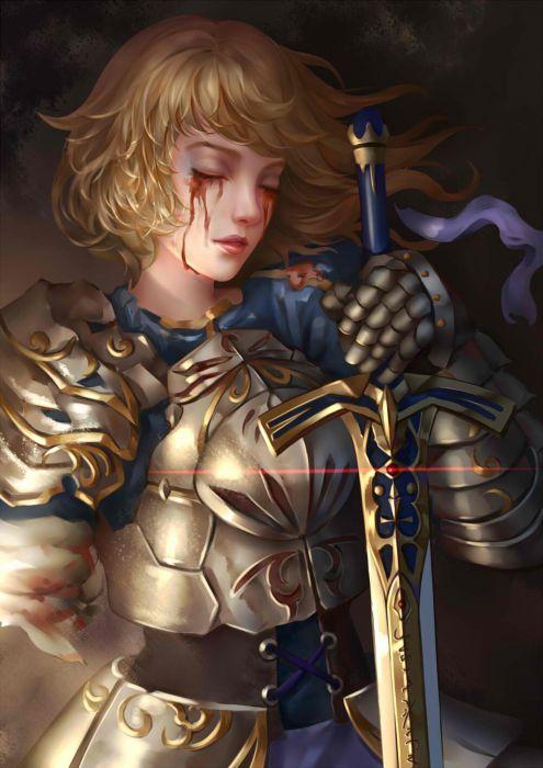 original warrior fate blonde sword girl wallpaper