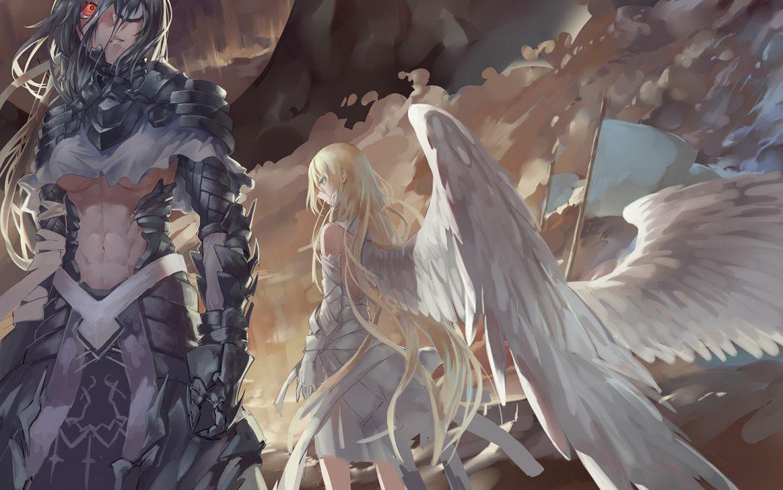 original angel blonde fantasy wings blonde wallpaper