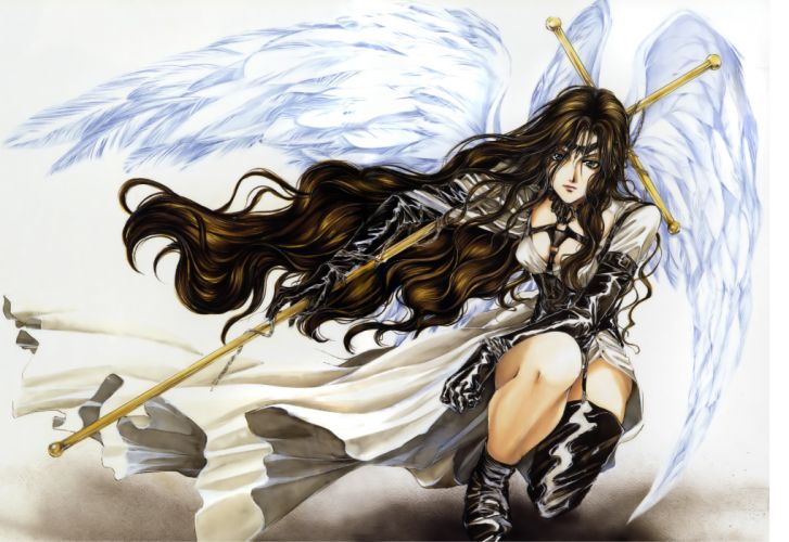 angel sanctuary yuki long hair- original anime girl wings angel beautiful wallpaper