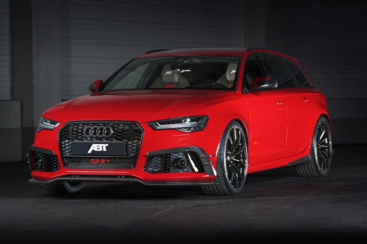 ABT Red Audi RS6 Wagon cars modified wallpaper