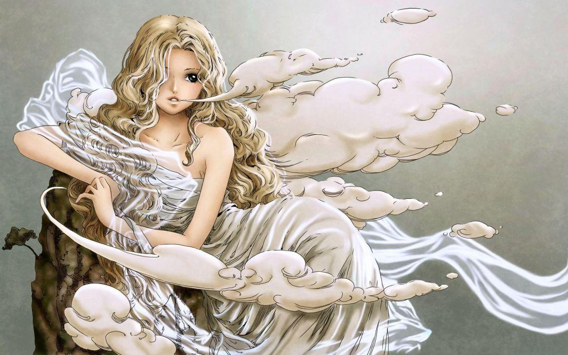 Fantasy girl animation digital art wallpaper