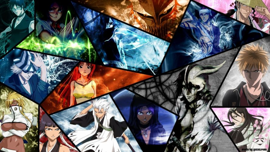 original bleach charecters girs guys group wallpaper
