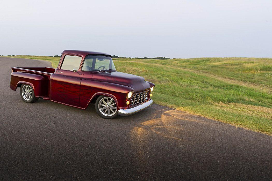 1955 Chevy truck pickup wallpaper
