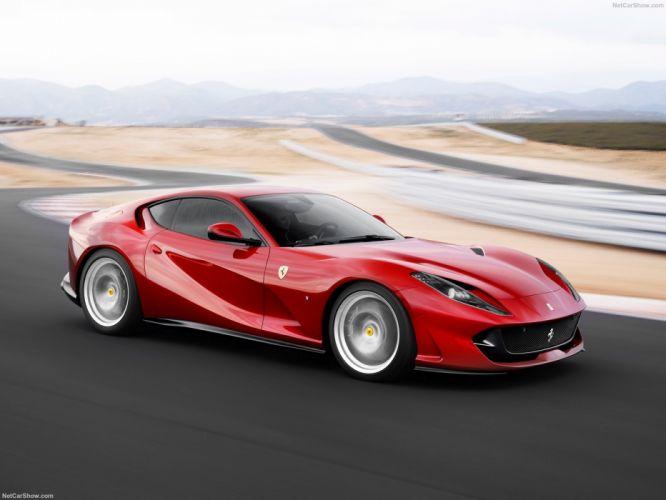 2017 812 cars ferrari red superfast wallpaper