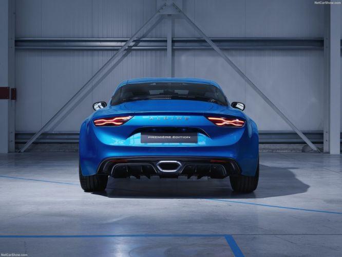 2017 Alpine A110 cars coupe blue wallpaper