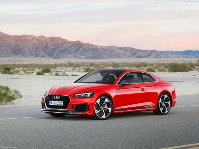 Audi 2017 RS5 Coupe cars red wallpaper