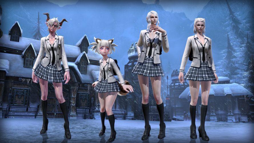 GAMES girls-sexy-schoolgirl-maid-frost wallpaper