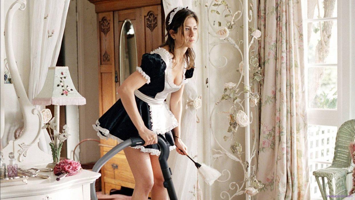 SENSUALITY jennifer aniston-actress-sexy-maid wallpaper