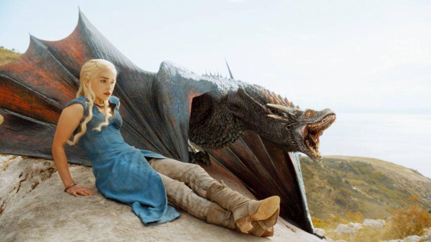 TV serie-game of thrones-daenerys-dragon wallpaper