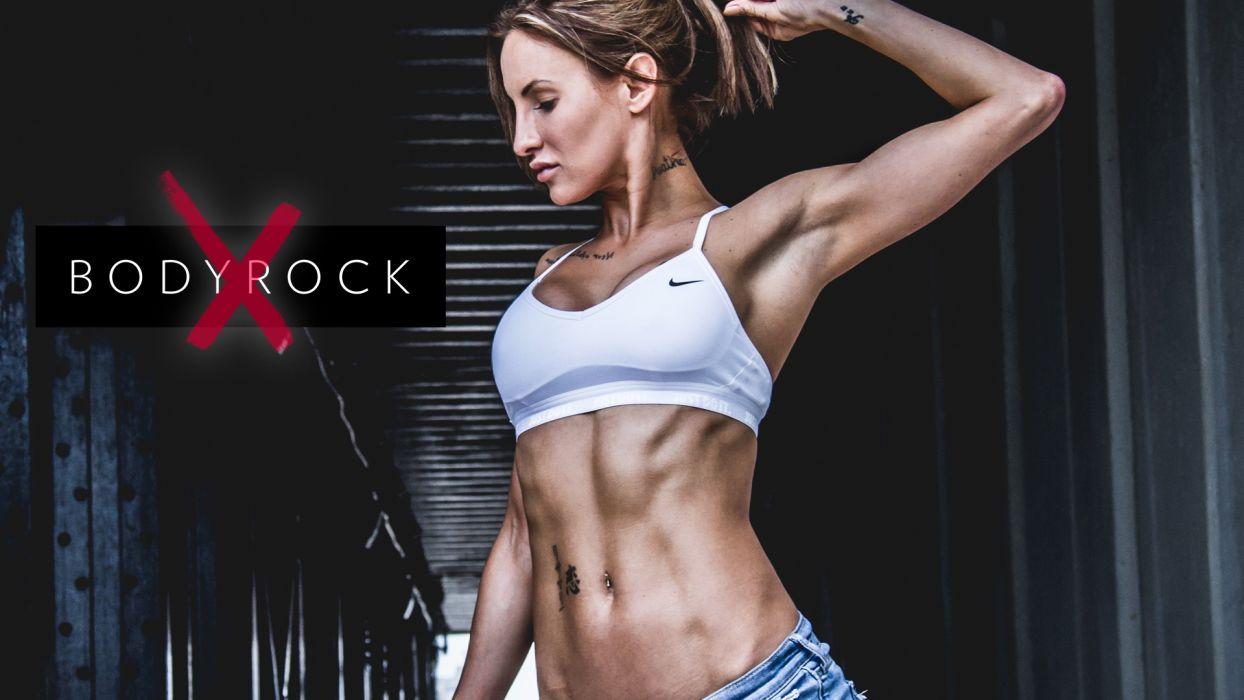 SPORTS BodyRock X-girls-belly-arm wallpaper