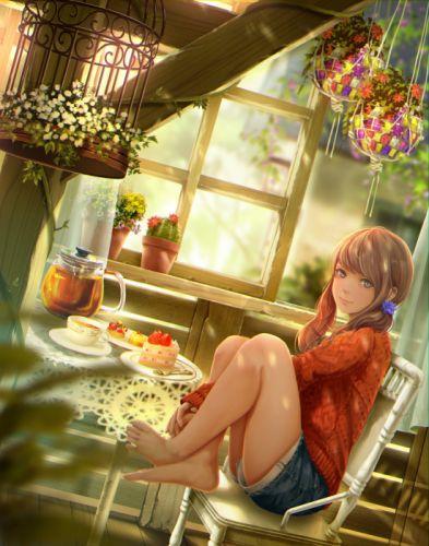 flower shoichi-kokubun original anime girl long hair beautiful wallpaper