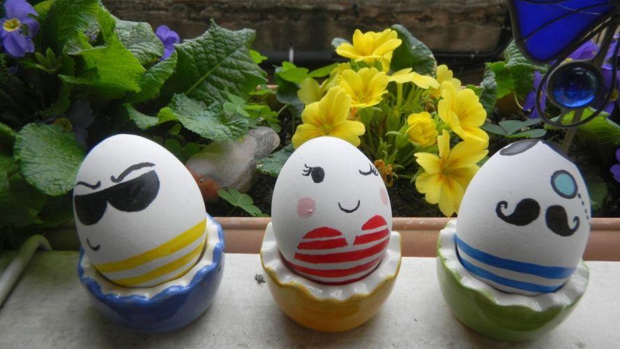 Huevos Pascua pintados flores wallpaper