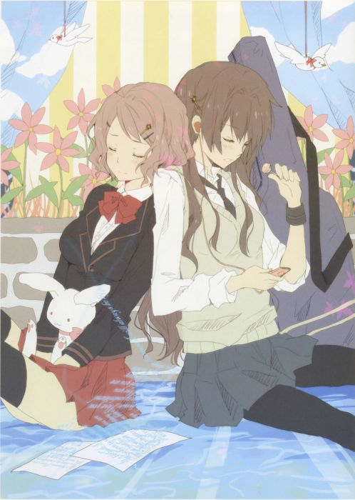 pixiv girls collection original anime beautiful flower wallpaper