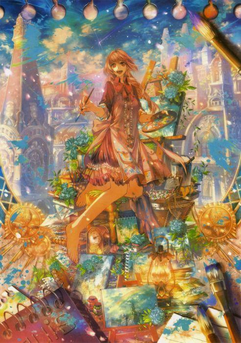 smile pixiv girls collection original anime beautiful wallpaper