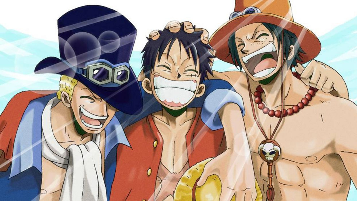 Original Anime Series Group One Piece Luffy Ace Sabo Ne Smile Friends Wallpaper