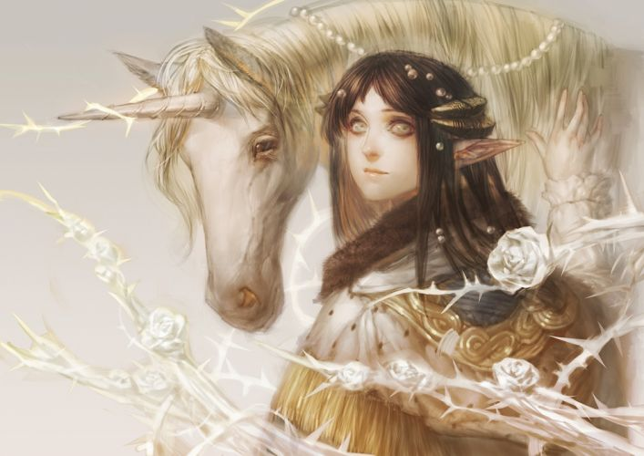 horse fantasy elf beautiful original-pixiv+fantasia wallpaper