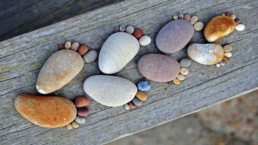 FEET foot-stone-pebble-wood wallpaper