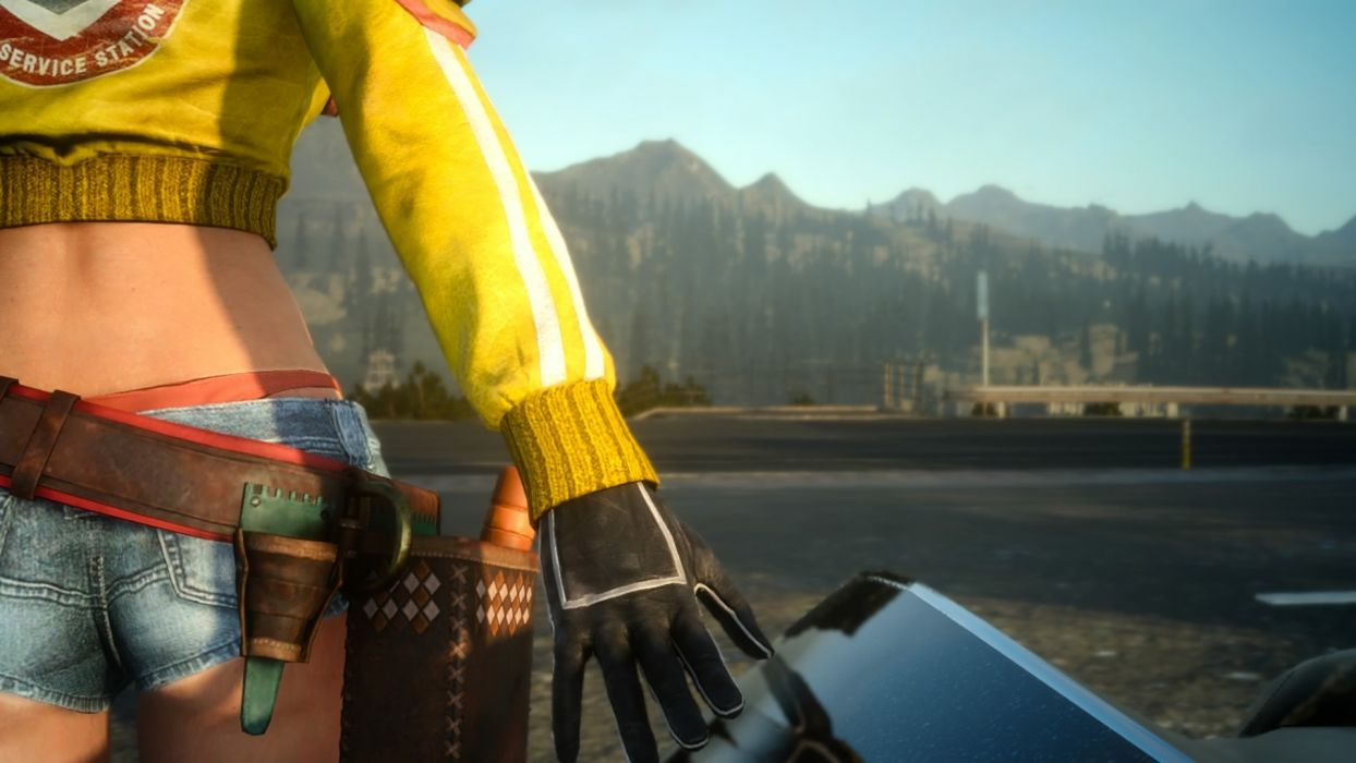 Games Final Fantasy Xv Cindy Shorts Jeans Glove Wallpaper