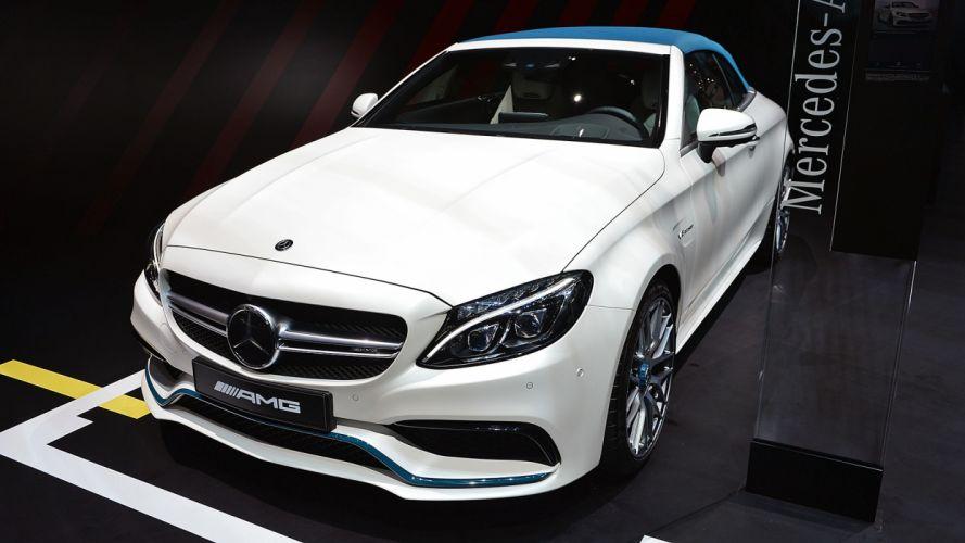 Mercedes AMG C63S Cabriolet Ocean Blue Edition Geneva auto show 2017 wallpaper