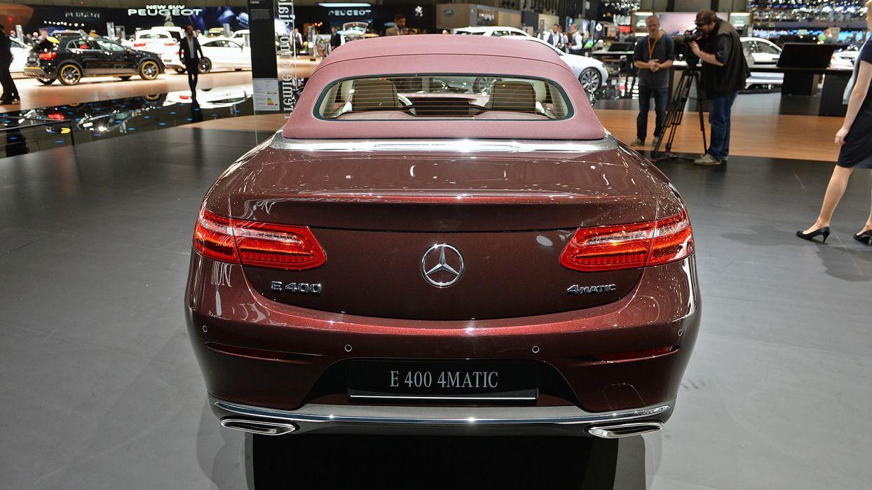 Mercedes Benz E-Class Cabriolet Geneva auto show 2017 wallpaper
