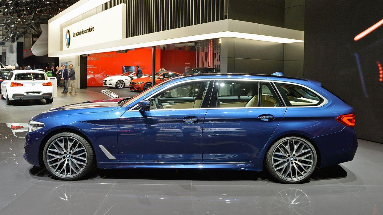 BMW 5-Series Touring Geneva auto show 2017 wallpaper