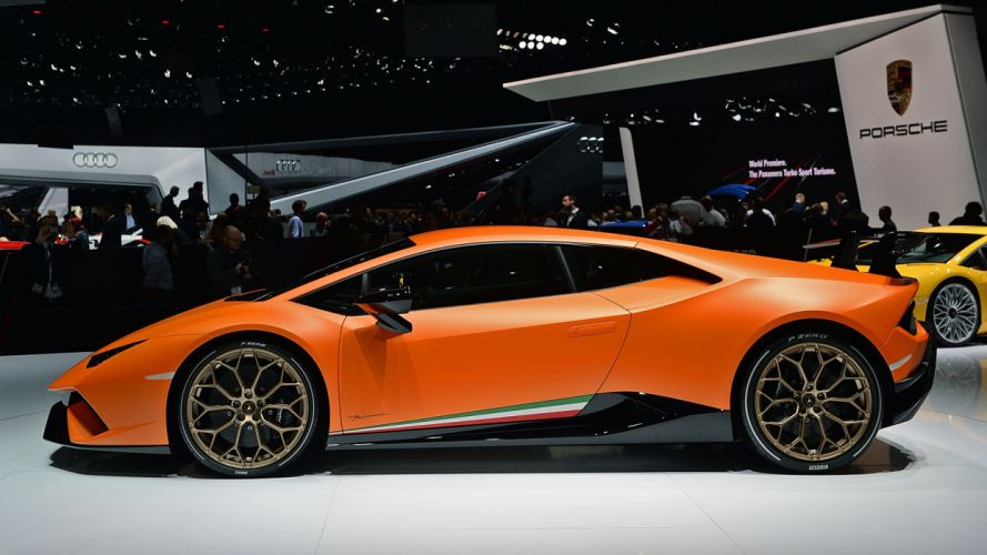 Lamborghini Huracan Performante 2017 auto cars geneva show wallpaper