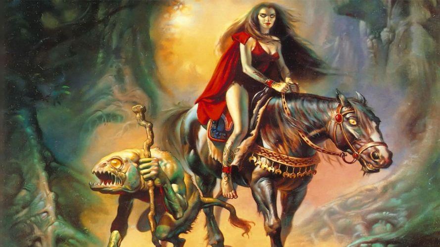 ARTS Boris Vallejo-vampire-horse wallpaper