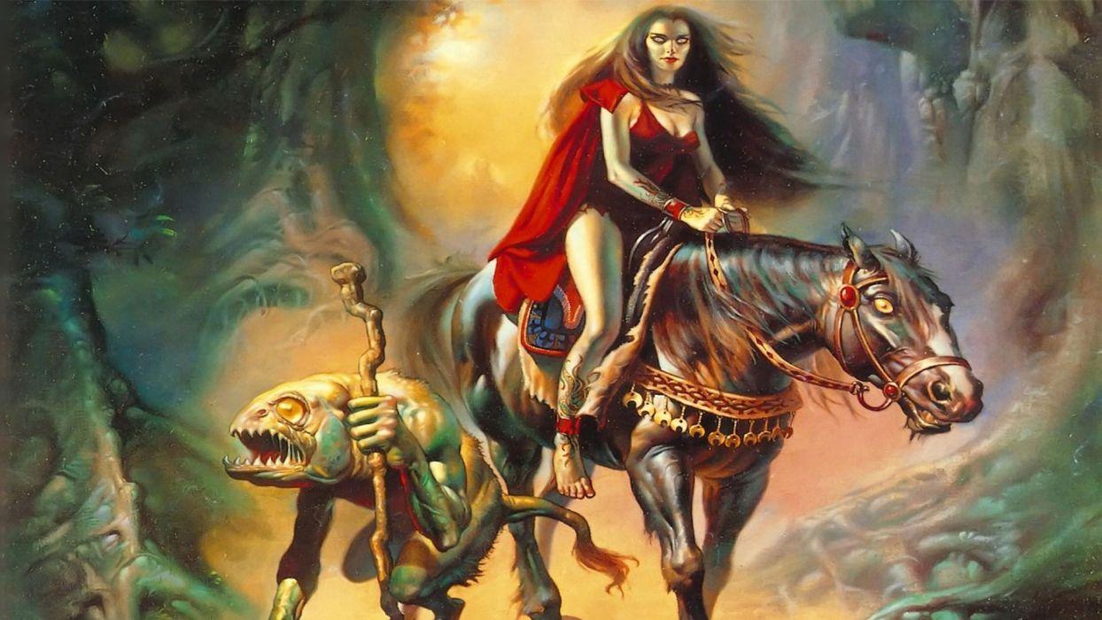 Fantasy Art Vampires Wallpapers Hd Desktop And Mobile: ARTS Boris Vallejo-vampire-horse Wallpaper