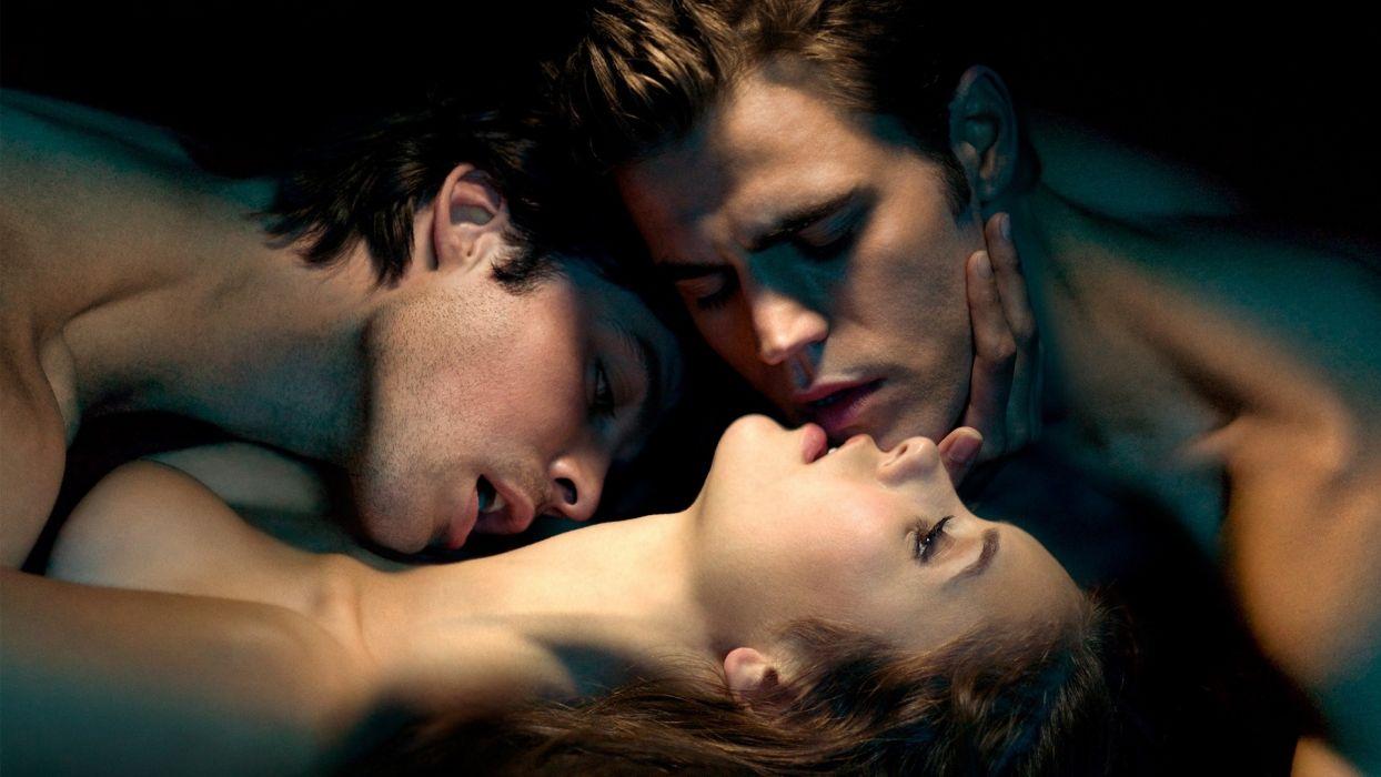SERIES The Vampire Diaries-three-scene wallpaper