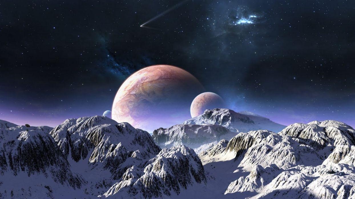 planetas estrellas espacio montay wallpaper