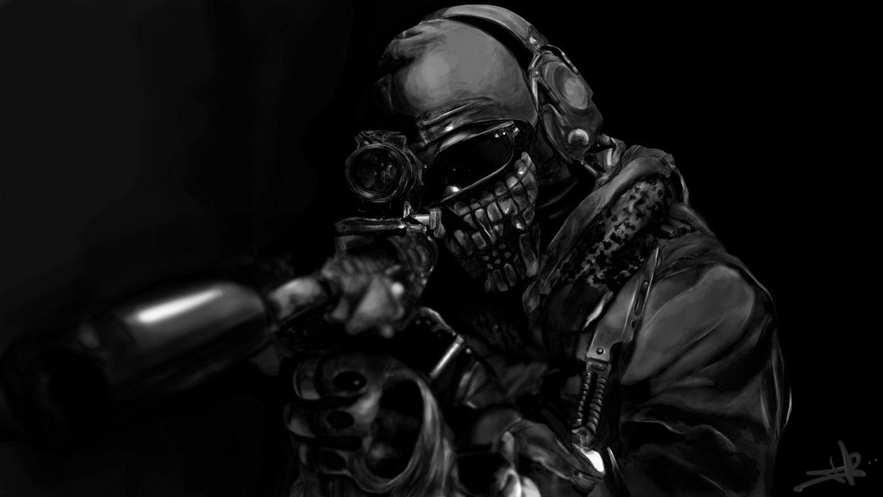 Call of Duty warrior soldier weapon gun rs 5000x2813 wallpaper