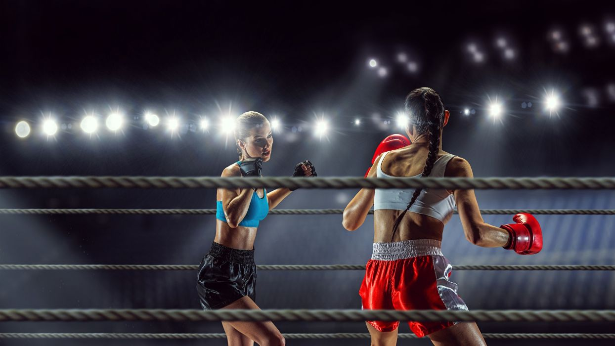 SPORTS girls-boxing-fight-ring wallpaper