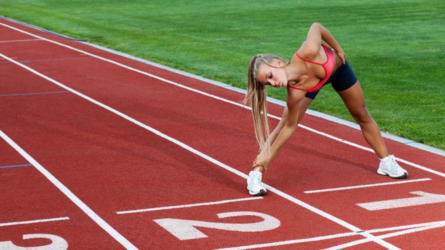SPORTS gymnastics-girls-exercise-stretching-legs-athletics track wallpaper
