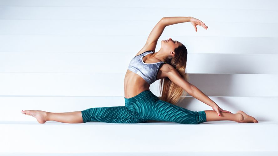 SPORTS gymnastics-girls-exercise-stretching-legs-white wallpaper