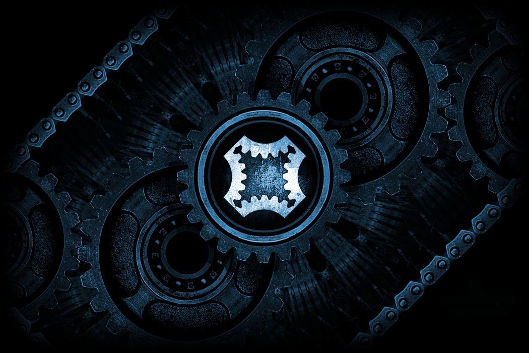 Industrial Blue wallpaper
